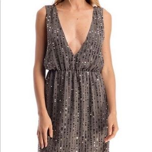 Walter Baker  Silver Sequin Cocktail Dress